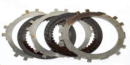 Automatic transmission clutch plates after cleanup.