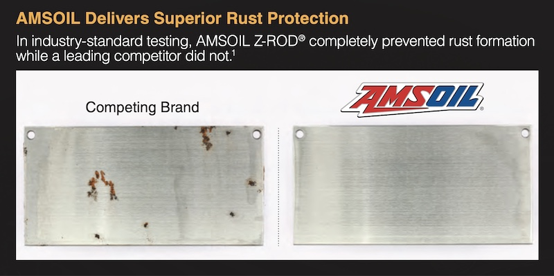 z-rod rust prevention test results